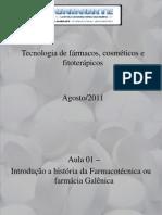 Aula 01 -Introduçao farmácia