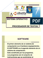 Sistemas Operativos y Word 2009