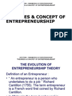 Theory and Concept of Enterpreneurship