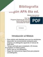 Bibliografia APA 6ta Ed Ppt