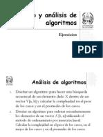 Analisis y diseño de algoritmos ejercicios