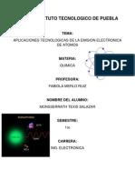Aplicaciones Tecnologicas de La Emision Electronic A de Los Atomos
