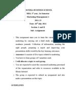 Assnt FOSTIIMA Mktg Mgmt-MBA