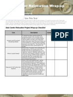 Data Center Relocation Project Wrap-Up Checklist