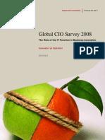 Global CIO Survey 2008 - Innovator Vs