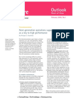 Next-Generation Operations Support Systems as a Key to High Performance