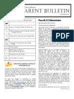 ES Parent Bulletin Vol#4 2011 Sep 23