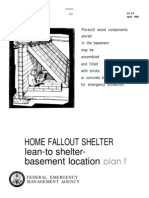 FEMA Home Fallout Shelter (Plan f) H-12-f WW