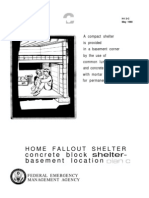 FEMA Home Fallout Shelter (Plan c) H-12-c WW