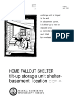 FEMA Home Fallout Shelter (Plan e) H-12-e WW