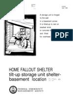 FEMA Home Fallout Shelter (Plan e) H-12-e WW