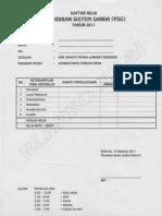 Daftar Nilai PSG Pemda