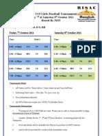 BISAC U19 Girls Football Tournament Schedule
