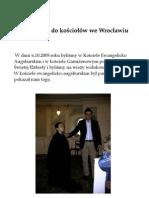 Reportaż - Wycieczka Do Kościołów We Wrocławiu