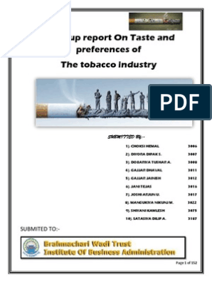 Indian Tobacco Industries Full Resurch BBA | Cigar | Tobacco
