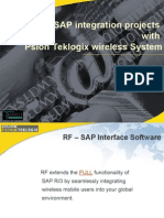 SAP Compatible Wireless Data Collection System