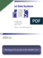Mds Company Presentation