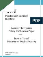 Terrorism Policy Report