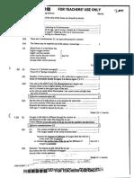 Biology 2000 Paper I Marking Scheme