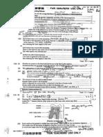Biology 2001 Paper I Marking