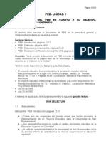 PEB- Unidad 1- Presentación Del PEB- Su Objetivo, Justificación y Contenido-Alumno