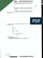 2000 Economics Paper 1 Marking Scheme