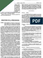 Real Decreto 773-1997, de 30 de mayo sobre disposiciones mínimas de segudidad y salud relativas a la utilización por los trabajadores de equipos de protección individual