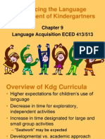 Language Development of Kindergartners Chapter 9