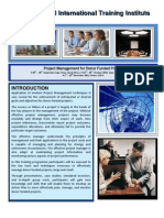 Course Outline - PROJECT Management for Donor Funded Project - Cape Town - 2013 - 2014
