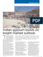 Indian Gypsum Builds on Bright Market Outlook