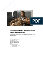 Cisco Unified CCX Administration Guide, Release 85