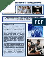 Course Outline - Procurement Management
