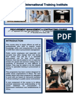 Course Outline - Procurement Management