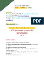 Sistemas Controlo I Introducao2011-12