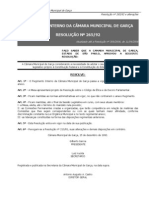 Regimento Interno da Câmara Municipal de Garça