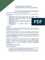 GESTIÓN DE LA CALIDAD TOTAL EDUCATIVA