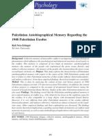 Palestinian Memory 1948- Political Psychology