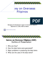 Survey on Overseas Filipinos