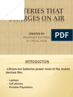 Batteries That Charges on Air
