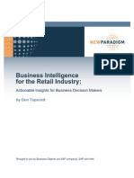 95 Business Intelligence for Retail Actionable Insights for Business Decision Makers