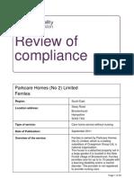 Fernlea Care Home Report