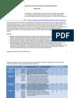 Stockpile Stewardship Program Quarterly Experiments - August 2011