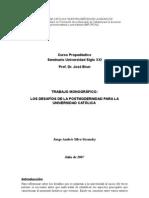 Monografía La Universidad en El Siglo XXI