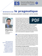 Obama le pragmatique - Note d'analyse géopolitique n° 36