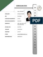 Curriculum Saul Vasquez Mora