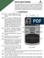 Manual Behringer DD600 P0533 M PT