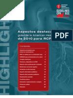 Guas RCP- Cambios en Espaol- 2010