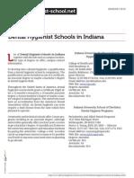 Dental Hygienist Schools in Indiana