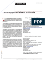Dental Hygienist Schools in Nevada