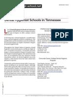 Dental Hygienist Schools in Tennessee